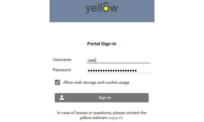 Yellow-Portal Login